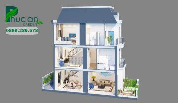 Thiết kế nhà phố dự án Phúc An Garden Bình Dương